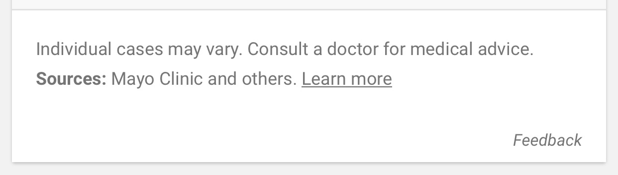 google-disclaimer